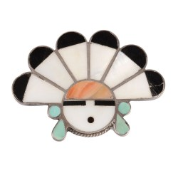 Native American Sun Face Brooch