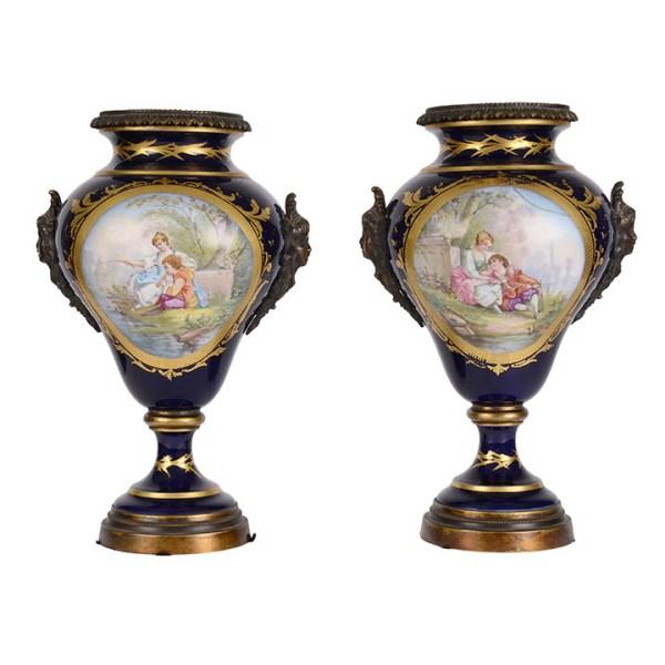 Sevres urns