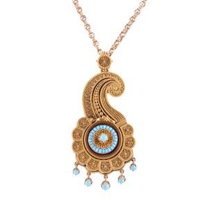 antique turquoise locket