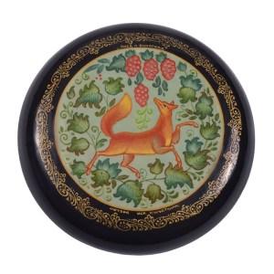 round Russian lacquer box