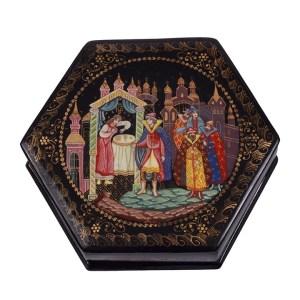 Russian Royal Scene Lacquer Box