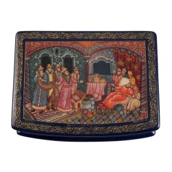 Nobles Bearing Gifts Russian Lacquer Box