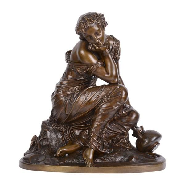 Marchand bronze sculpture