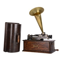 Edison Home Phonograph with All Brass Horn