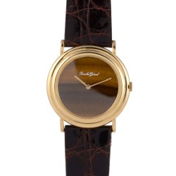 Bueche Girod Original Tiger Eye Dial 18K Wrist Watch