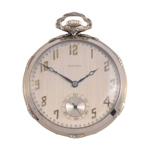 white gold pocket watch