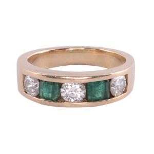 diamond emerald band