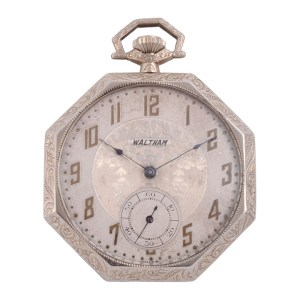 Waltham octagonal pocket watch