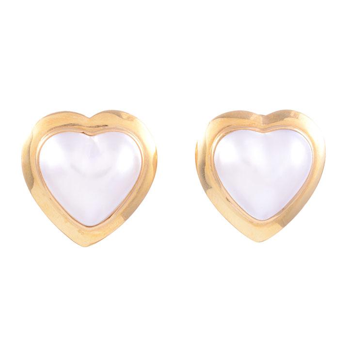 mabe pearl heart earrings
