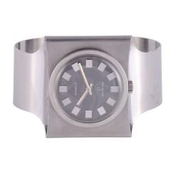 Gubelin Stainless Steel Cuff Wrist Watch