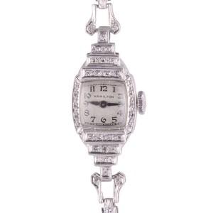 Hamilton diamond platinum watch