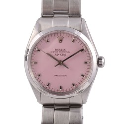 Rolex Classic Air King Pink Dial Wrist Watch