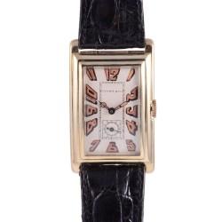 Longines for Tiffany & Co Art Deco 18K Wrist Watch
