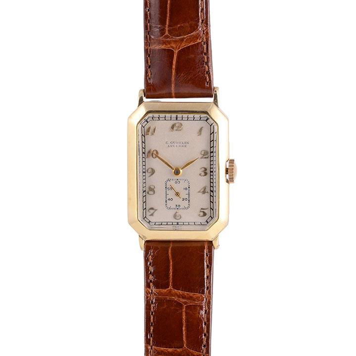 E Gubelin 14K wrist watch