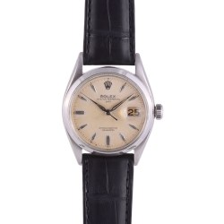Rolex Stainless Steel Oyster Perpetual Date Wrist Watch