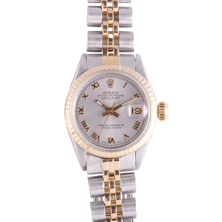Rolex DateJust Two Tone 14K Stainless Steel Ladies Wrist Watch