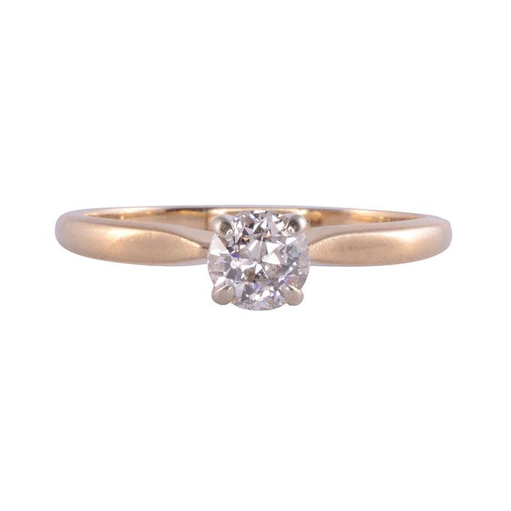 14K Solitaire 0.45 Carat Diamond Ring