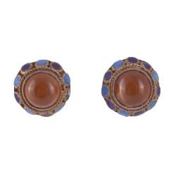 Gilt Silver Carnelian Earrings