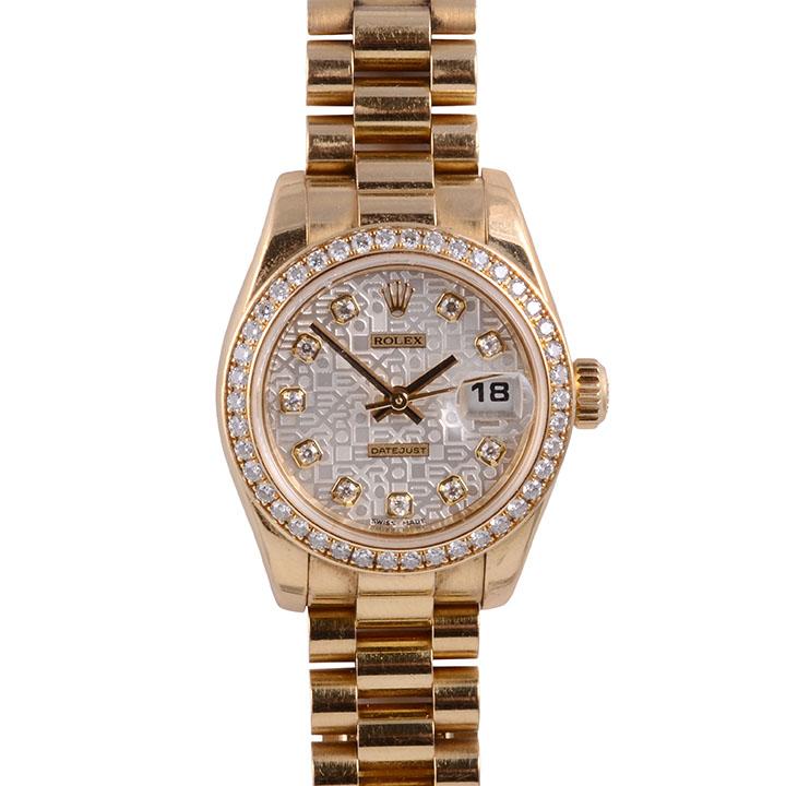 Rolex 18K Diamond Datejust Ladies Wrist Watch