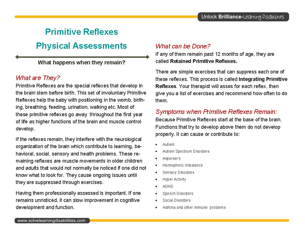 Parent Handout_Page_1 - Solve Learning Disabilities