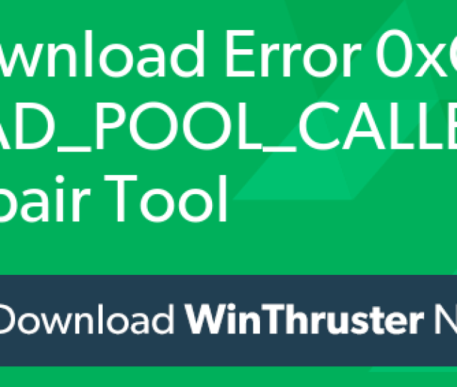 How To Fix Bad_pool_caller Error 0xc2