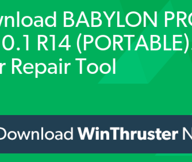 What Is Babylon Pro V R14 Portable Exe And How To