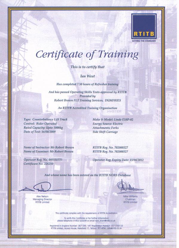 Manual Handling Certificate Template Templateclinical