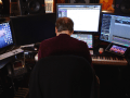 Hans Zimmer plays at the keyboard in Score: A Film Music Documentary. Photo by Matt Schrader.