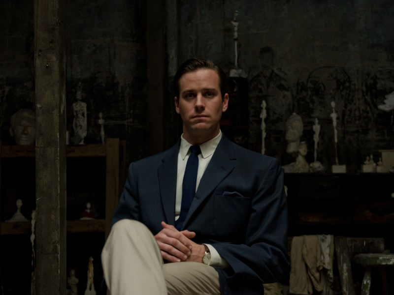 Armie Hammer as James Lord in FINAL PORTRAIT.