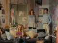 Gbenga Akkinagbe as Wayne, Anna Camp as Kiki, Christina Hendricks as Karen, David Alan Basche as Don, and Alysia Reiner as Tina in EGG.