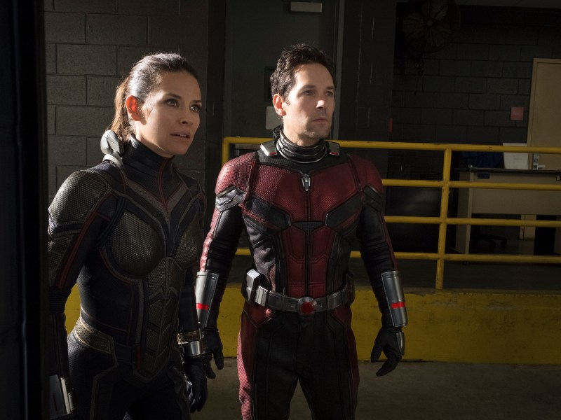 The Wasp/Hope van Dyne (Evangeline Lilly) and Ant-Man/Scott Lang (Paul Rudd) in Marvel Studios' Ant-Man and The Wasp.