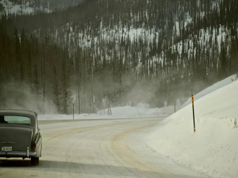 Elvis Presley's 1963 Rolls-Royce in the Rocky Mountains, Colorado, in Eugene Jarecki's THE KING.