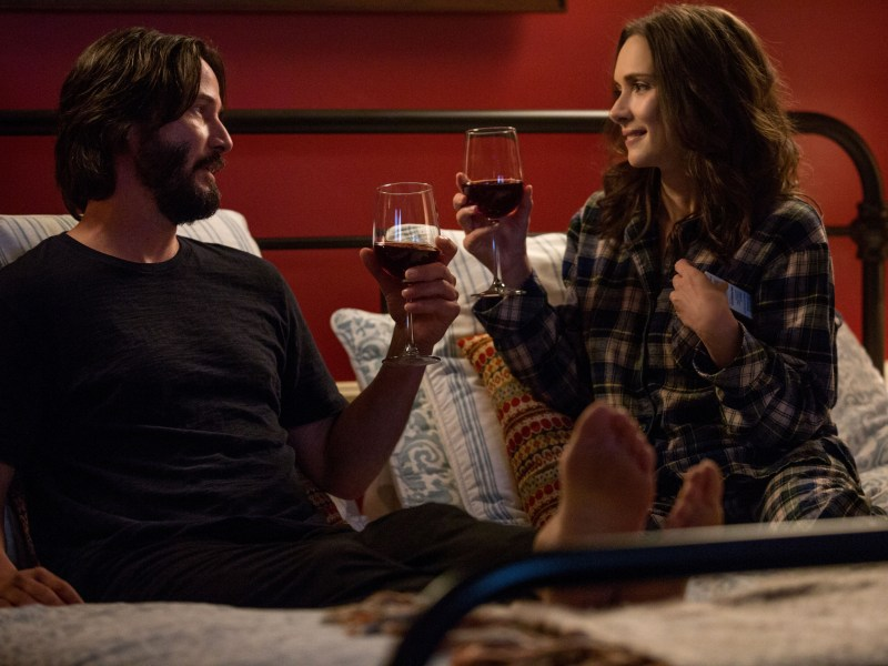 Forced to spend a weekend together, Frank (Keanu Reeves) and Lindsay (Winona Ryder) quickly realize that there's nothing misery loves more than company in DESTINATION WEDDING.