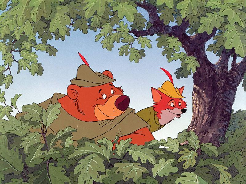 Little John and Robin Hood in Disney's Robin Hood.