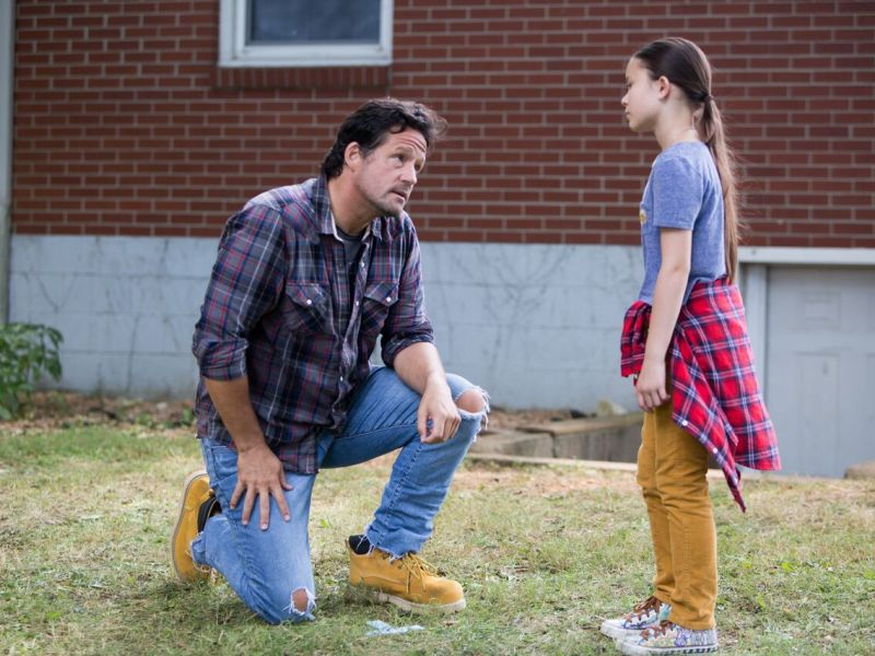 Josh Hopkins and Madison Horcher in Mail Order Monster.