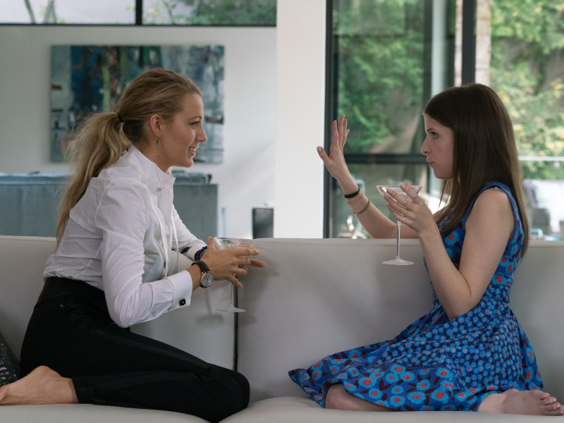 "Blake Lively (""Emily Nelson"", left) and Anna Kendrick (""Stephanie Smothers"", right) star in A Simple Favor."