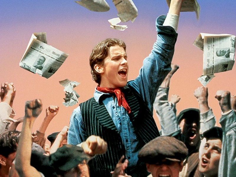 Christian Bale in Disney's Newsies.