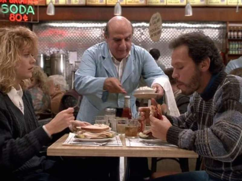 Meg Ryan and Billy Crystal in When Harry Met Sally...