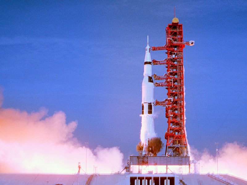 Apollo 11 launch in July 1969.