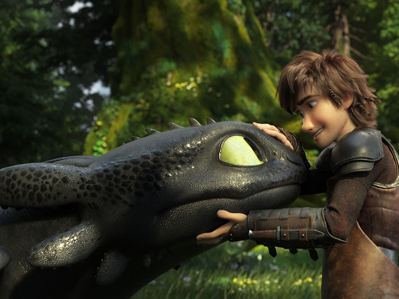 Toothless and Hiccup (Jay Baruchel) in How to Train Your Dragon: The Hidden World