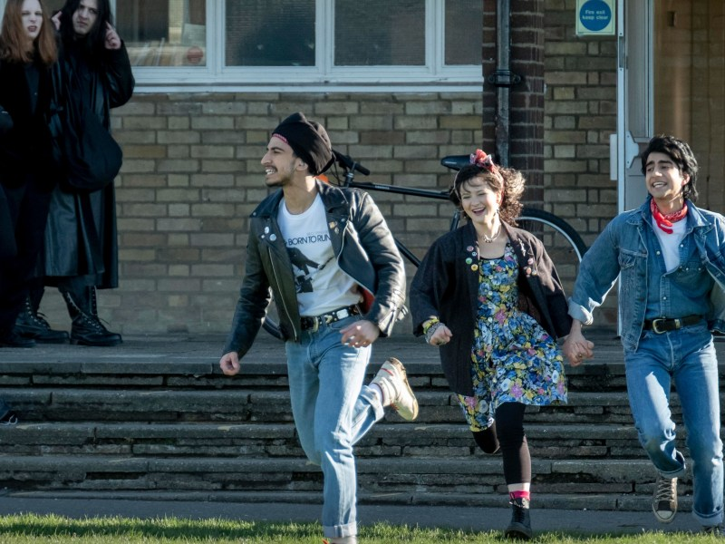 Viveik Kalra, Nell Williams and Aaron Phagura appear in Blinded by the Light by Gurinder Chadha, an official selection of the Premieres program at the 2019 Sundance Film Festival.