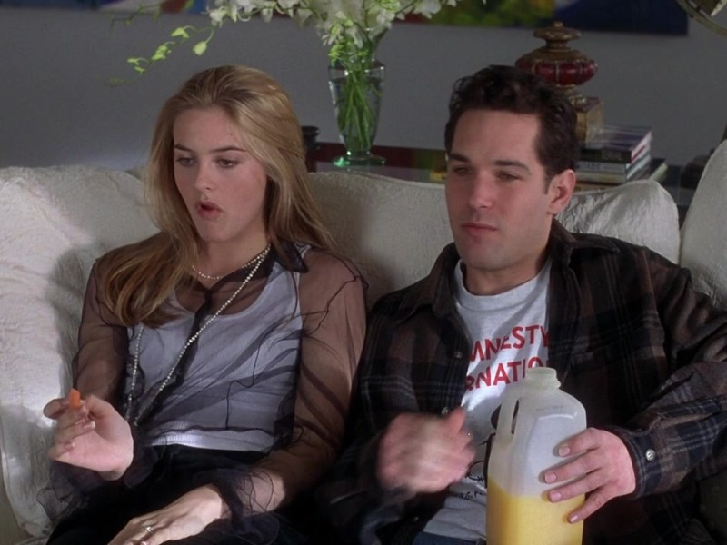 Alicia Silverstone and Paul Rudd in Clueless.