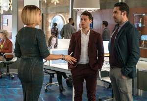 "Nicole Ari Parker, A.Z. Kelsey and guest star Pej Vahdat in the ""Had It From My Father"" fall finale episode of EMPIRE."