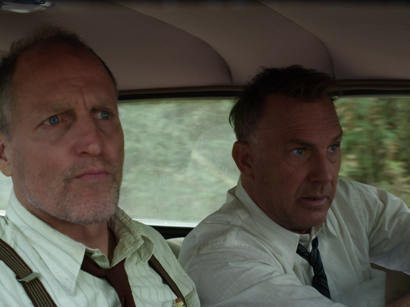 "Woody Harrelson (""Maney Gault"") and Kevin Costner (""Frank Hamer"") in The Highwaymen."
