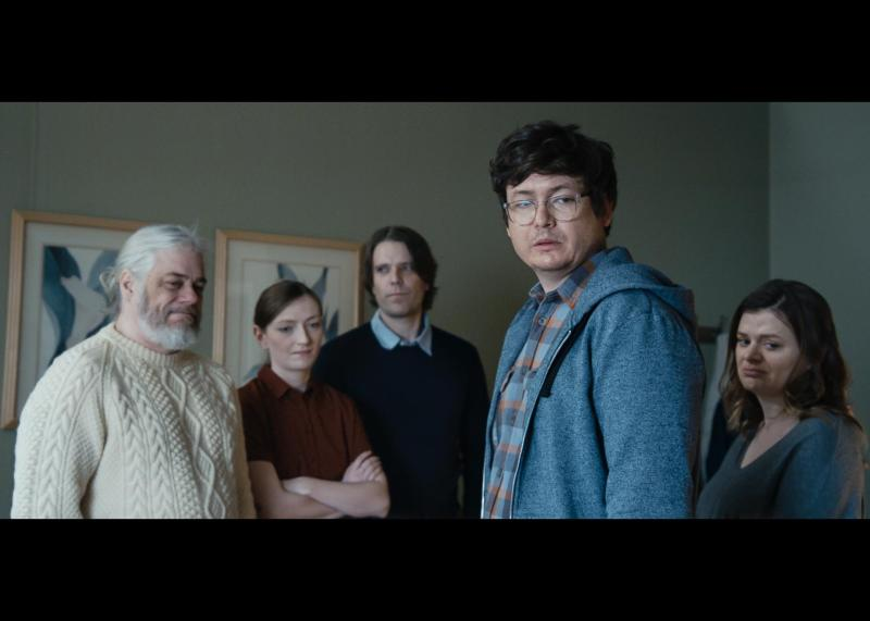 John Ennis (Dale), Anna Seregina (Chrissy), Kiel Kennedy (Tyler), Allan McLeod (Jason), and Elaine Carroll (Natalie) in Milton