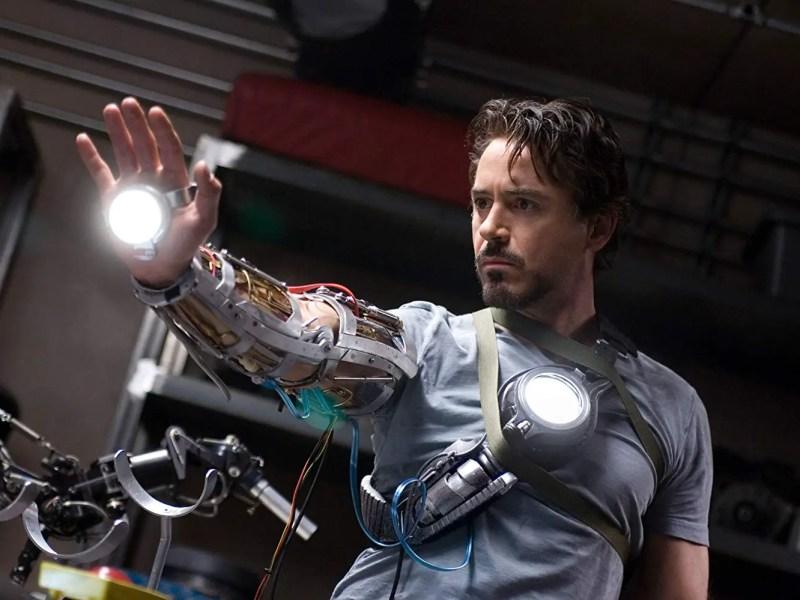 Robert Downey Jr. in Iron Man.