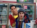 Zachary Levi as Shazam and Jack Dylan Grazer as Freddy Freeman in New Line Cinema's action adventure Shazam!, a Warner Bros. Pictures release.