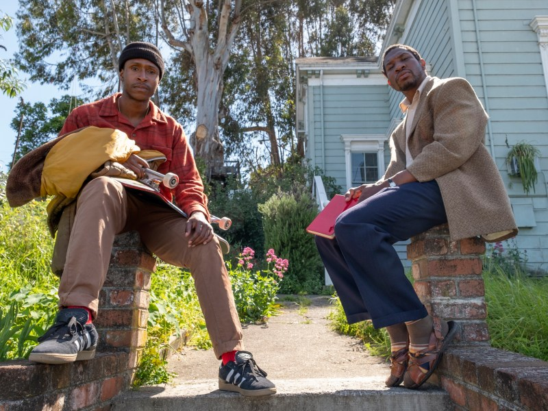 Jimmie Fails stars as Jimmie Fails and Jonathan Majors as Montgomery Allen in THE LAST BLACK MAN IN SAN FRANCISCO, an A24 release.