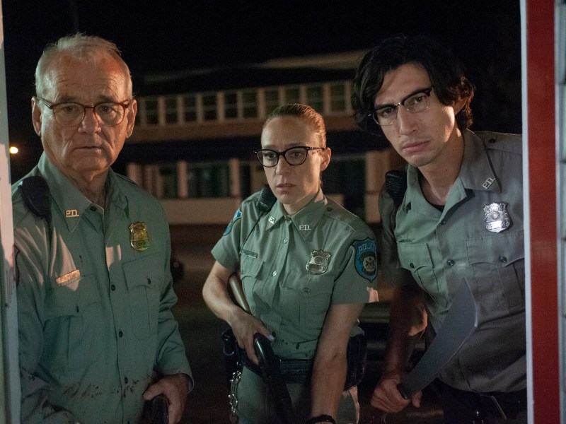 "(L to R) Bill Murray as ""Officer Cliff Robertson"", Chloë Sevigny as ""Officer Minerva Morrison"" and Adam Driver as ""Officer Ronald Peterson"" in writer/director Jim Jarmusch's THE DEAD DON'T DIE, a Focus Features release."