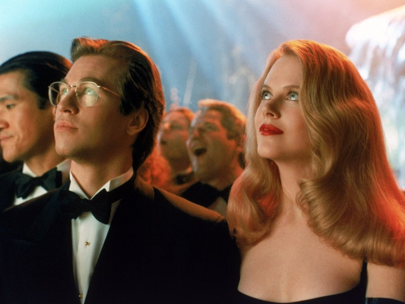 Val KIlmer and Nicole Kidman in Batman Forever.